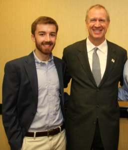 Bruce Rauner and Aaron DeGroot